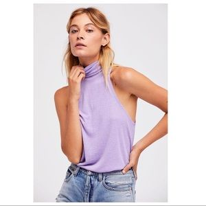FREE PEOPLE SLEEVELESS TURTLENECK TANK TOP